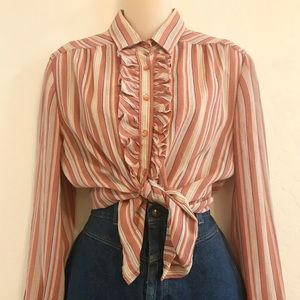 Tops - Ruffled 80s button down